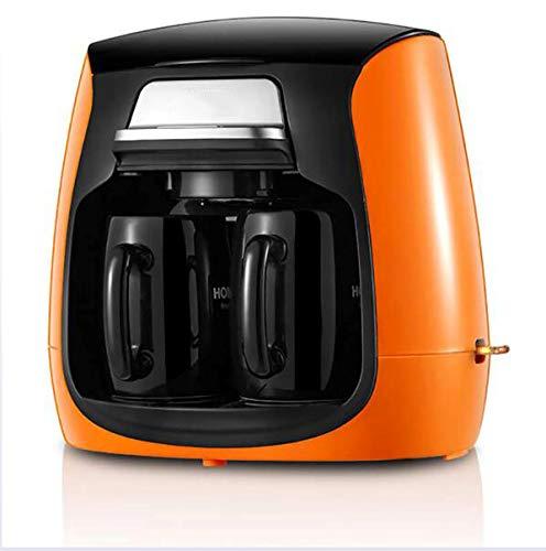 LYA Kaffeevollautomat, Selbst Grinding, Anti-Drip-Typ, 0,45 Mm-Filter, Automatischer Power-Off-Schutz, Weicher Geschmack,Orange