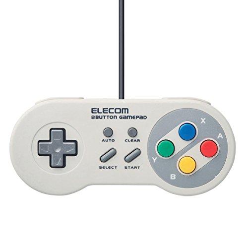 Preisvergleich Produktbild Elecom Game Pad 8 Button Super Famicon usb (SNES) Style High endurance button White JC-FR08TWH Japan