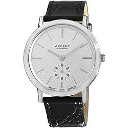 Axcent Unisex-Armbanduhr Ambassador Analog Quarz Schwarz IX20223-637