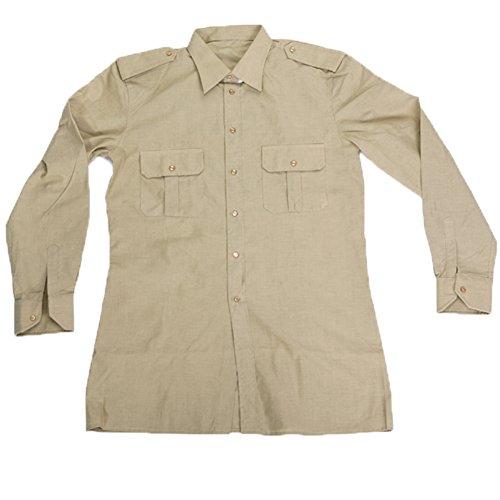 Camicia esercito italiano militare cotone manica lunga soldato ordinanza (17 1/2)