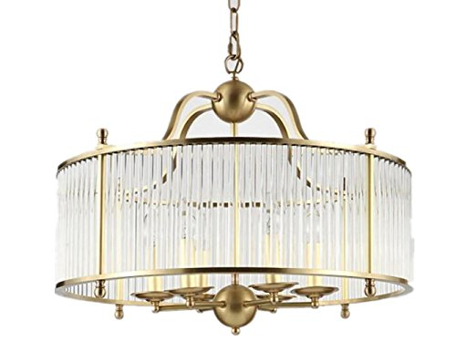 FYN-Classic-Lantern-Style-Brass-Clear-Ceiling-Light-Shade-Easy-Fit-Pendant-Diameter-50cm-E144