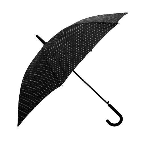 Severyn Paraguas de paseo con estampado de lunares y apertura automática para mujer (Talla Única/Negro)