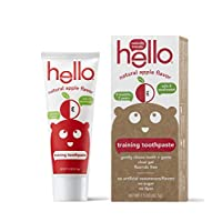 Hello Oral Care Fluoride Free Toddler Training Toothpaste, Organic Apple, 1.5 Ounce