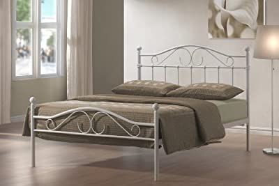 4ft6 Double Devon Metal Bed - cheap UK light store.