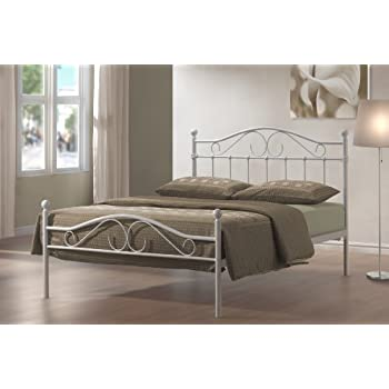 4ft6 double devon metal bed - White Metal Bed Frame