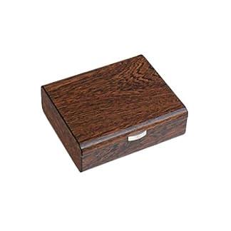 Bollitocigar Humidor, Caja para 25Puros de Ironwood Brillante, con higrómetro y humidificador