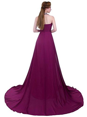 Drasawee - Robe - Dos nu - Femme Violet - Violett - Violett