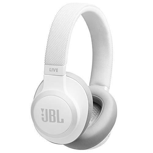 JBL LIVE 650BTNC - Auriculares Inalámbricos con Bluetooth y Cancelación de Ruido, Sonido Calidad JBL con Asistente de voz integrado, Hasta 30h de música, Color Azul