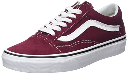 Vans Women's Old Skool Suede/Canvas Trainers, Red (Burgundy/True White), 6 UK 39...