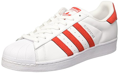 Adidas superstar femme rouges