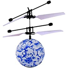 Switchali RC Juguete EpochAir RC Flying Ball, RC Drone HelicóPtero Bola IluminacióN LED Shinning Incorporado Para NiñOs Adolescentes Colorful Flyings Para NiñOs Juguete (Azul)