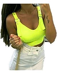 Lulupi Donna Reggiseno Sportivo Senza Ferretto con Fibbia di Regolazione Canotta Palestra Donna Traspirante Bra per Fitness Yoga Corsa Jogging
