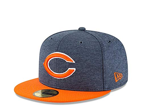 New Era NFL Chicago Bears Authentic 2018 Sideline 59FIFTY Home Cap, Größe :7 1/8