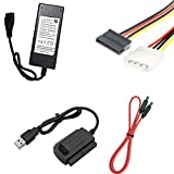 Storite SATA/IDE to USB 2.0 Adapter with Power Supply Supports 2.5, 35,5.25--inch Hard Disk Drives