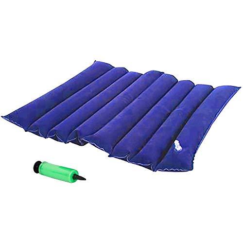 YLYP Premium Air Aufblasbares Sitzkissen 40x45 cm (15.7x17.7 in) Anti-Dekubitus-Kissen mit Löchern für Rollstuhl und WC-Pflege (Farbe : Blau)