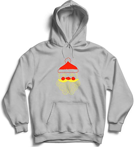 79e57c040a437c Christmas Santa Beard Happy Holidays_009495 Hooded Pullover Unisex 2XL Black  Hoodie