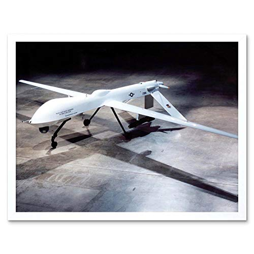 Wee Blue Coo LTD Military Air Plane Jet USAF Drone Predator Art Print Framed Poster Wall Decor Kunstdruck Poster Wand-Dekor-12X16 Zoll (Air Blue Jet)