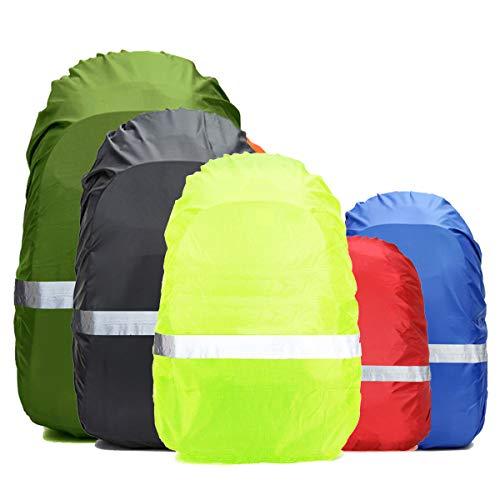 Frelaxy Regenschutz für Rucksack Schulranzen(15-90L), 100{2086db46aa8157b9197af76f7635512ad85c942b2a2da9f4d38e33616ae9696b} Wasserschutz Rucksack Cover mit Reflektorstreifen, Rutschfester Schnallenriemen, für Wandern, Camping, Radfahren, Reisen (Schwarz, XL)