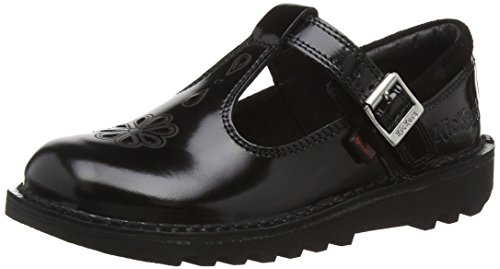 Kickers Kick T Suma Junior Mary Jane da Ragazza', Nero (Black), 34