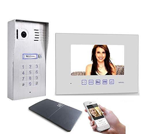 4 Draht Video Türsprechanlage Gegensprechanlage 7\'\' Monitor WLAN Schnittstelle