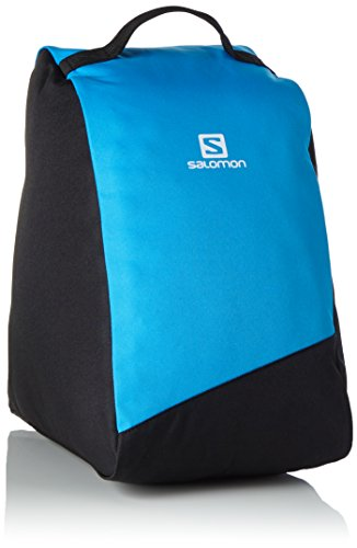 Salomon Original Bootbag Boots Bag, Unisex Adulto, Black/Process Blue/White, 39 cm