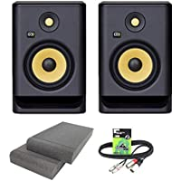 KRK Rokit RP7 G4 Professional Active Powered DJ Studio Monitor Speakers with Isolation Pads & Cable
