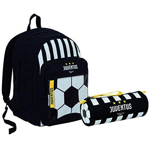 Seven schoolpack ufficiale juventus fc zaino scuola e astuccio tombolotto