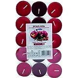 60 farbig sortierte Duftteelichter, Markenware, Vanille - Zimt - Duft