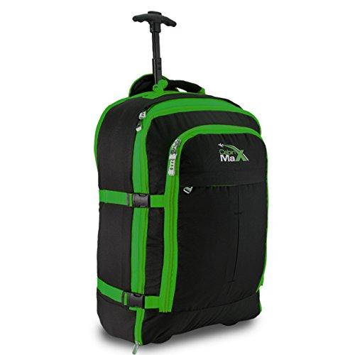 Cabin Max Malmo–Trolley da Cabina 44L mehfunktional ruolo bagagli, nero/verde nero/verde
