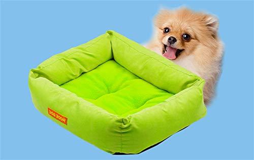HAOBAO Kennel Square Fruit Nest Teddy Vier Jahreszeiten Pet Nest Bichon Hundebett Katze Nest Pad House Dog House, Green -