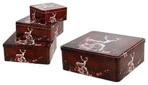 geb ckdosen keksdosen quadratisch 3er set weihnachten f r. Black Bedroom Furniture Sets. Home Design Ideas