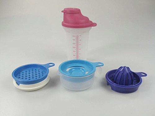 TUPPERWARE Backen Shaker Shake-It Shaky 350ml rosa + Küchenperle Küchenhelfer