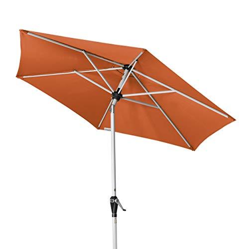 Doppler Active Auto Tilt 210 – Kurbel Sonnenschirm ideal für den Balkon – Regenabweisend – ca. 210 cm