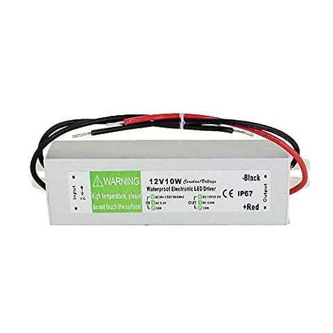 IP67 LED Transformateur Etanche Convertisseur Alimentation du Conducteur pour 12V - 10W, 9.5 * 3 *