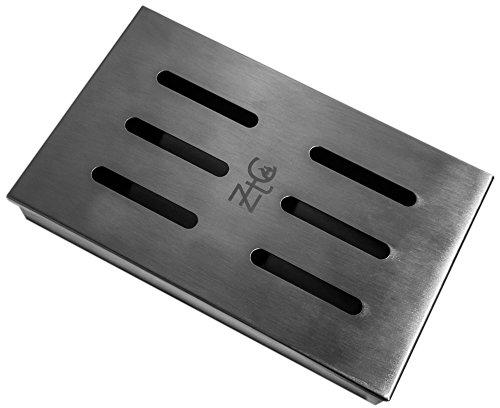41TM7MoO3wL - ZTC Räucherbox | inkl. Rezept | rostfrei | Edelstahl | langlebig | Grillzubehör | Gasgrill | Kohlegrill | besondere Rauchnote | großes Volumen | Smokerbox | Anleitung | Männer Geschenk