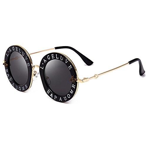 Steampunk Runde Sonnenbrille für Frauen Männer Biene Sonnenbrille Chic Style Unisex Brille Transparente Linsen