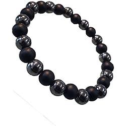 Young & Forever Divine Spiritual Unisex Men, Women Lava Beads Onyx Hematite Beads Bracelet Healing Energy Stone Reiki Bracelet Gemstone Bracelet diwali Gift special