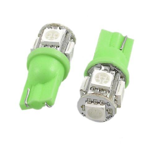 SOURCING MAP Vert-Lot de 2 x T10 W5W 5050 SMD 5 LED Veilleuse Ampoule de rechange pour voiture