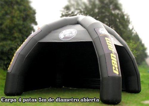 Tucuman Aventura - Carpa hinchable 4 patas abierta-cerrada