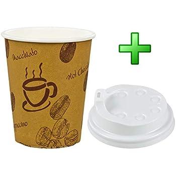 """100 Stk. Kaffebecher Premium """"Coffee to go"""" mit Deckel"""
