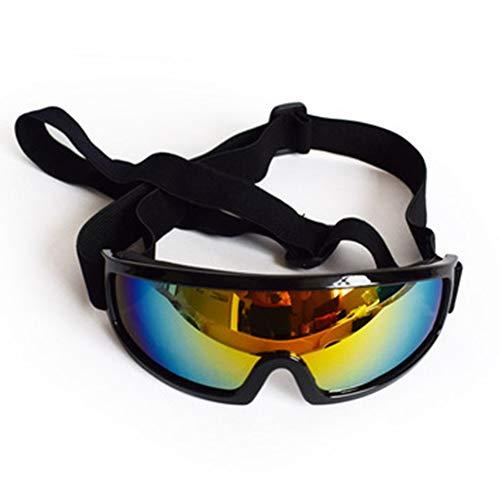 PETSUPPLY0 Hundeschutzbrillen Sonnenbrille Wasserdicht Winddicht Augenschutz für Haustier Anti-UV Anti-Fog,Black -