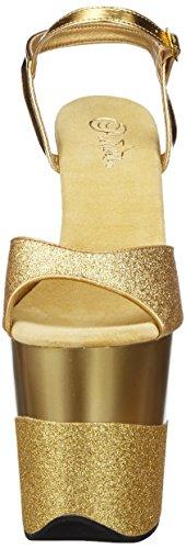 Pleaser Flamingo-809-2g, Sandali Donna Oro (Gold Gltr/Gold-Gltr)