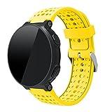 TopTen Bracelet de rechange en silicone pour montre de course Forerunner 220/230/235/620/630GPS de Garmin M jaune