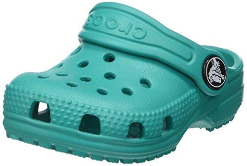 crocs Classic Clog Kids, Unisex - Kinder Clogs, Blau (Tropical Teal), 33-34 EU (Herren-casual-comfort-clogs)
