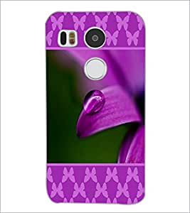 PrintDhaba Droplet on Petal D-1296 Back Case Cover for LG NEXUS 5X (Multi-Coloured)
