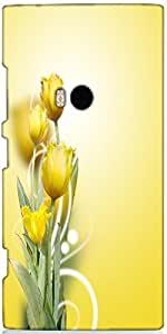 Snoogg Beautiful Yellow Tulips Background Designer Protective Back Case Cover...