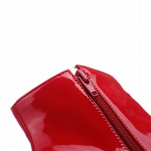 MissSaSa Donna Scarpe col Tacco Alto Elegante e Sexy Piede Stivali Rosso