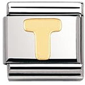 Nomination Composable Classic Buchstaben Edelstahl und 18K-Gold (T) 030101