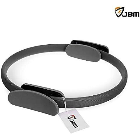 JBM Pilates Fitness anello 3 colori, Pilates Circle per Pilates e Yoga, Fitness Training, Full-Body Workout, Barre - anello tonificante, scolpire, resistenza e flessibilità, potenza resistenza esercizio cerchio - Manopole Modellata