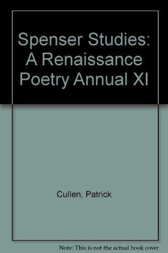 Spenser Studies: A Renaissance Poetry Annual XI PDF Books
